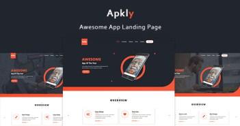 Apkly - Plantilla de la página de aterrizaje de la aplicación