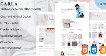 Carla - Plantilla HTML de moda y moda