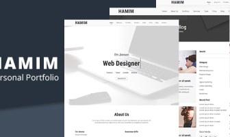 HAMIM - Plantilla de página de inicio de HTML mínimo