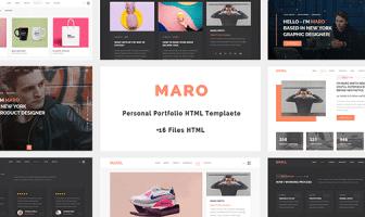 Maro - Plantilla HTML de carpeta personal