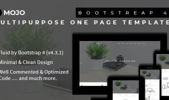 Mojo - Plantilla Bootstrap 4 multipropósito de una página