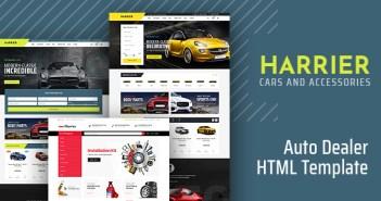 Harrier - Plantilla HTML de concesionario de automóviles