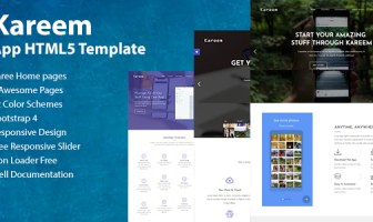 Kareem - Software, Aplicación, Plantilla HTML5 de Aterrizaje