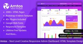 Diseño de plantillas HTML de administrador de creatividades de siguiente nivel de Amtos