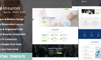 Insuron - Plantilla HTML5 para una agencia de seguros