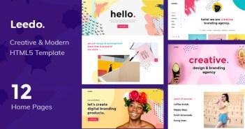 Leedo - Plantilla HTML5 para portafolio moderno, colorido y creativo