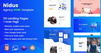 Nidus - Plantilla HTML de Agencia Responsiva