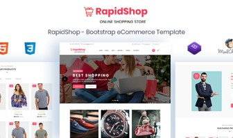 RapidShop - Plantilla HTML de eCommerce Bootstrap