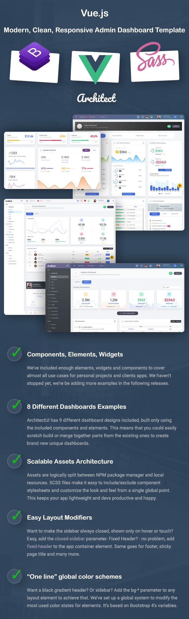 ArchitectUI - Vue.js Bootstrap Admin UI Dashboard Template - 3