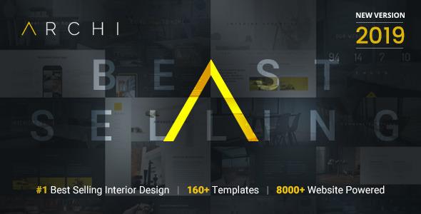 Archi - Diseño de interiores tema de WordPress - Portafolio creativo