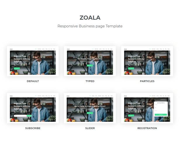 Zoala - Plantilla de una página HTML5 - 1