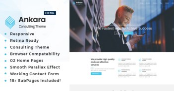 Ankara - Plantilla HTML de servicios de consultoría de negocios y servicios profesionales