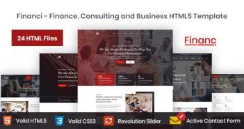 Financi - Plantilla HTML5 de Finanzas, Consultoría y Negocios