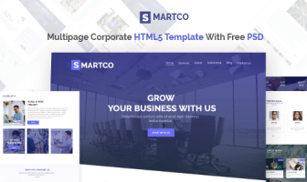 SMARTCO - Plantilla de HTML5 corporativo de varias páginas con PSD