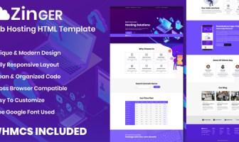 Zinger - Plantilla HTML para alojamiento web