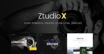 Ztudio X - Plantilla HTML de fotografía de estudio creativo