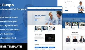 Buspo - Plantilla HTML de negocios en línea