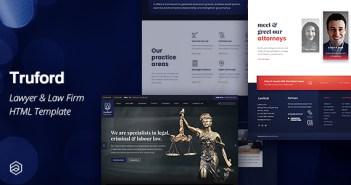 Plantilla HTML para un abogado de Truford: bufete de abogados, bufete de abogados