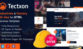 Tectxon - Plantilla HTML5 de Industria y Fábrica