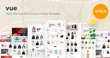 Vue - Limpie la plantilla HTML5 de comercio electrónico mínima