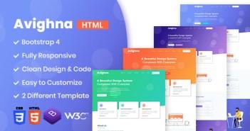 Avighna - Plantilla HTML empresarial sensible y mínima