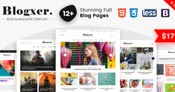 Blogxer - Blog & Magazine Bootstrap 4 Template