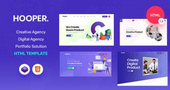 Hooper - Plantilla HTML para una agencia de marketing digital y portafolio creativo