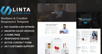 Linta - Plantilla Responsive para Creative Portfolio
