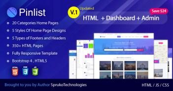Lista de pines - Directorio, clasificados y trabajos Plantilla de listado de HTML5 de usos múltiples Bootstrap4