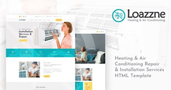 Loazzne - Plantilla HTML de servicios de calefacción y aire acondicionado
