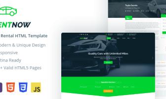 RentNow - Plantilla HTML para alquilar un auto