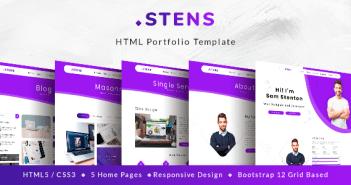 Stens - Portafolio personal y plantilla HTML de CV