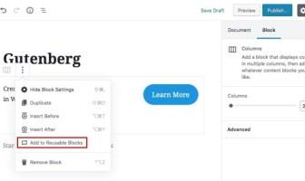 crear bloques reutilizables gutemberg wordpress
