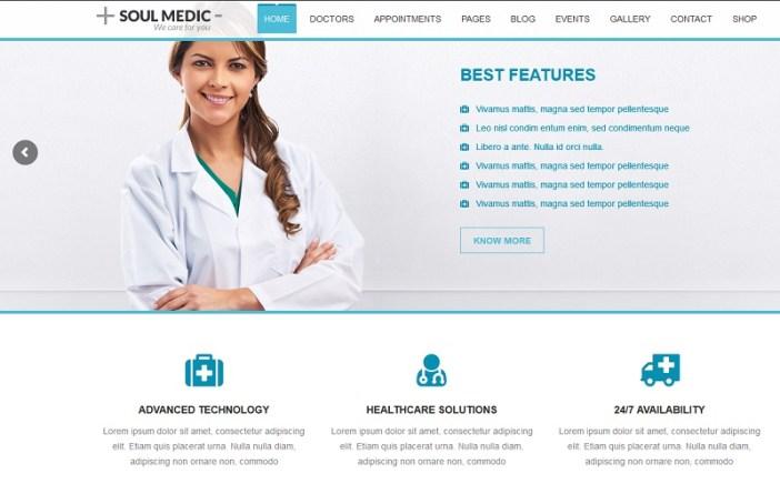 templates de wordpress salud medicina
