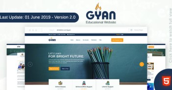 Gyan - Educational HTML Template