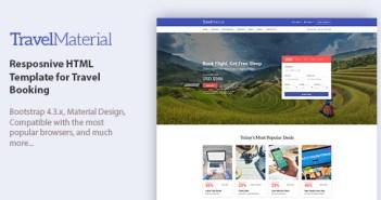 Material de viaje - Plantilla HTML resposnive para reservas de viajes