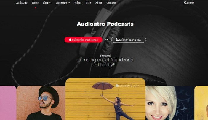 plantillas para radio wordpress