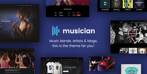 plantillas html5 musica y bandas