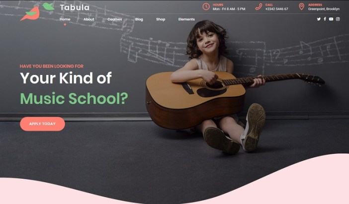 plantillas wordpress para academias de musica