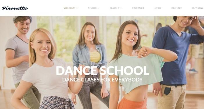 plantillas wordpress para academias de baile moderno