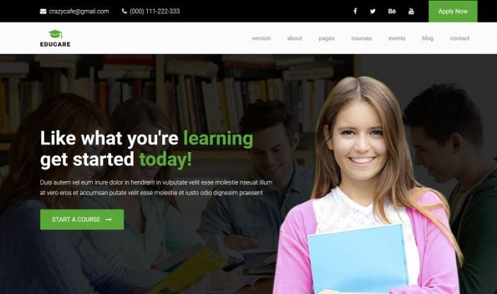 temas wordpress cursos online