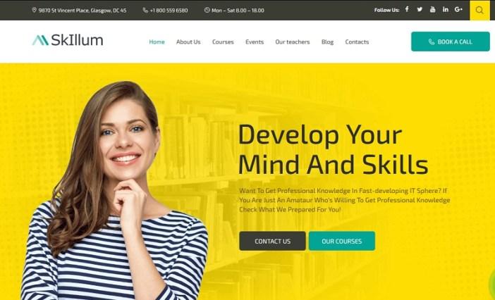 plantillas wordpress cursos online
