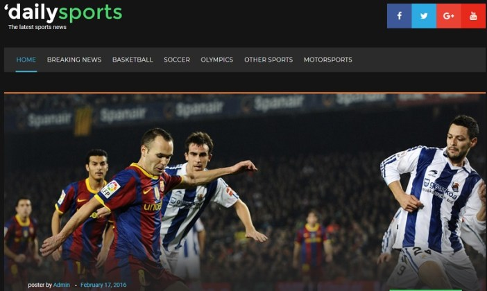 temas wordpress periodicos deportivos