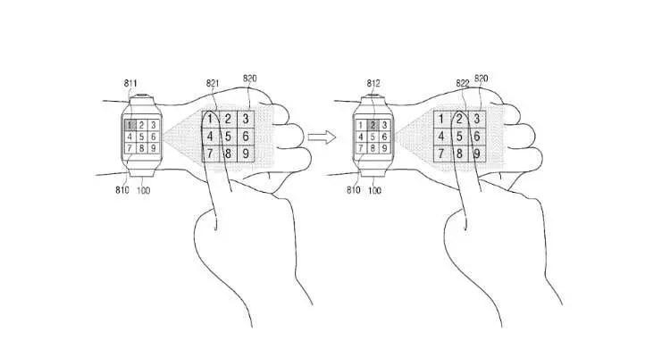 Samsung, primo smartwatch che proietta sulla mano presto
