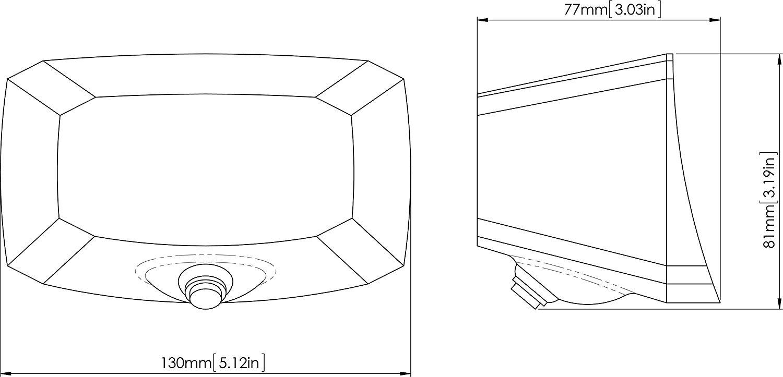 EchoMaster PCAM-PM4-N OE Fit Third Brake Light Backup