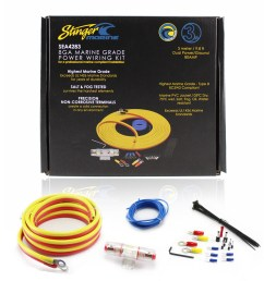 stinger sea4283 boat utv marine amplifier installation kit 8ga 3 details about stinger sea4283 boat utv [ 1600 x 1600 Pixel ]