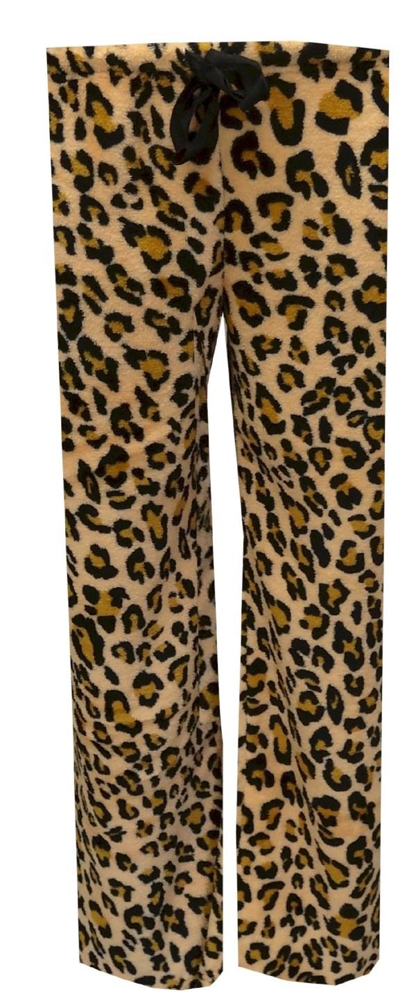 Brown Leopard Plush Lounge Pant