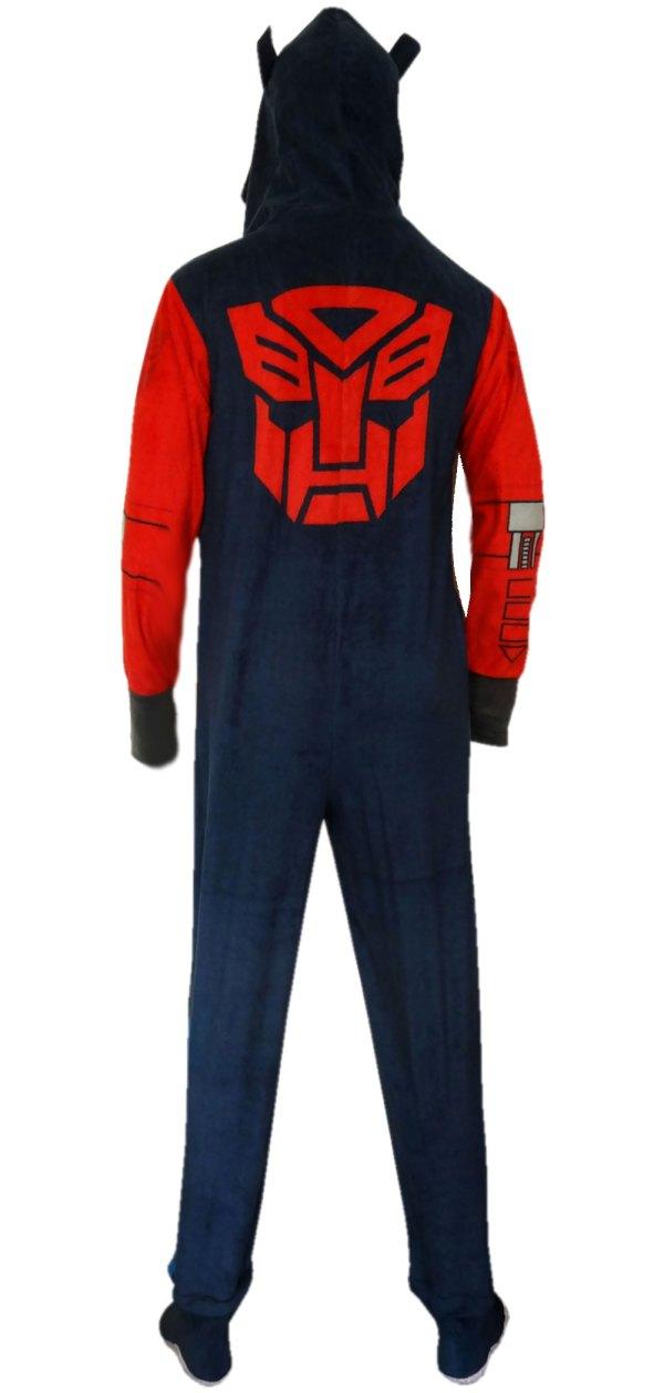Transformers Optimus Prime Hooded Fleece Piece Footie Pajama