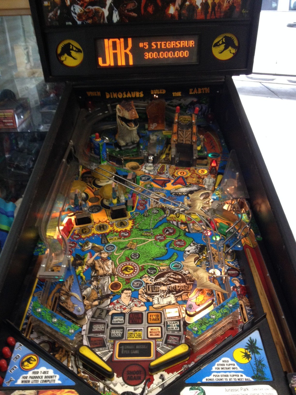 1993 Jurassic Park Pinball Machine For Sale In Madera CA