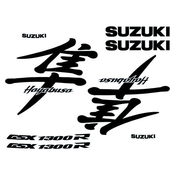Aufkleber Suzuki modell Hayabusa 1999-00 logo set